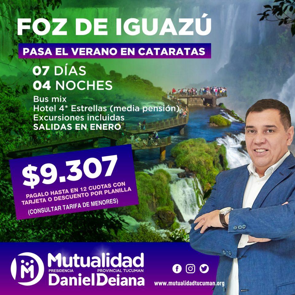 Oferta de turismo para Foz de Iguazú 2019 - Mutualidad Provincial Tucumán