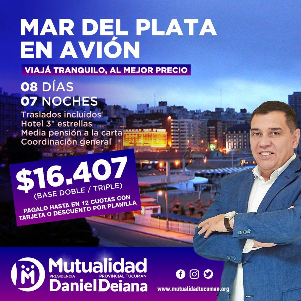 Oferta de turismo para Mar del Plata 2019 - Mutualidad Provincial Tucumán