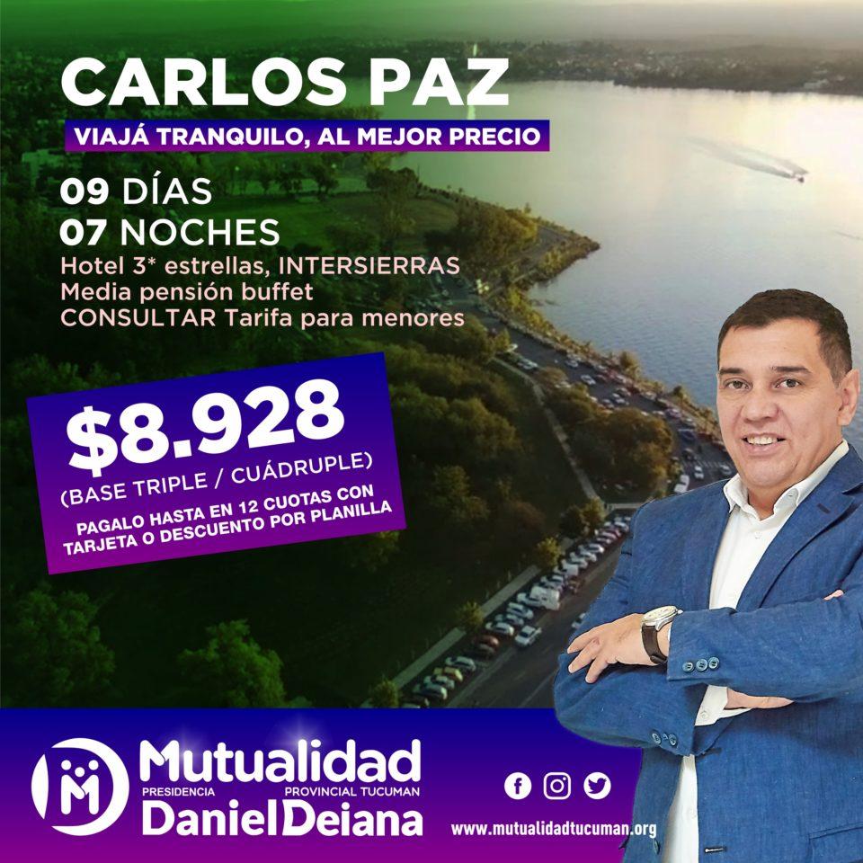 Oferta de turismo para Carlos Paz 2019 - Mutualidad Provincial Tucumán