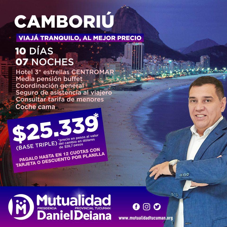 Oferta de turismo para Camboriú 2019 - Mutualidad Provincial Tucumán