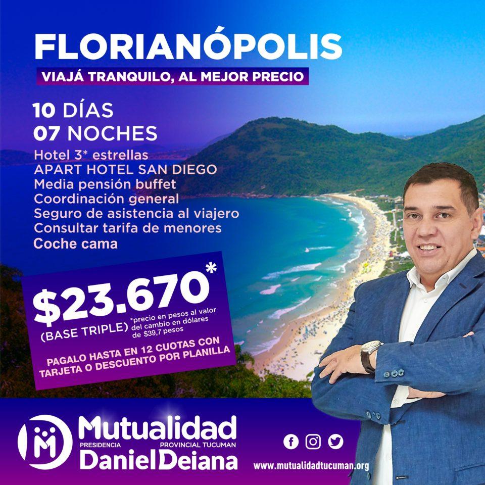 Oferta de turismo para Florianópolis 2019 - Mutualidad Provincial Tucumán